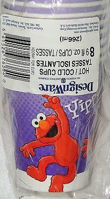 NEW ~SESAME STREET~ 8-  PAPER CUPS  BIRTHDAY--CHILD  PARTY SUPPLIES ](Baby Sesame Street Birthday Party Supplies)