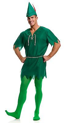 Peter Pan Elf Unisex Robin Hood Christmas Hook Adult Halloween Costume