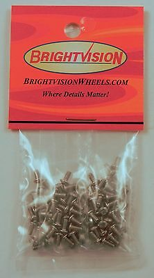 100 SILVER 2-56 Hex-Drive Button-Head Screw-In Rivets For Customs & Restorations