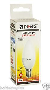 5x-Arcas-LED-Lampadine-a-risparmio-e14-4-WATT-circa-VECCHIO-30-4000K-Bianco