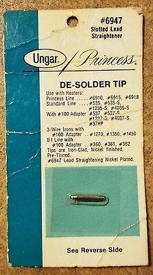 Vintage Ungar 6947 Princess Slotted Lead Straightener De-solder Tip