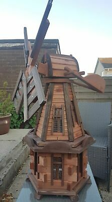 Wooden Handmade Large Garden Windmill. For Pond/Patio Wooden Windmill Feature