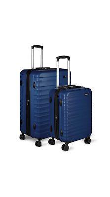 AmazonBasics Hardside Spinner Luggage - 2 Piece Set , Navy B