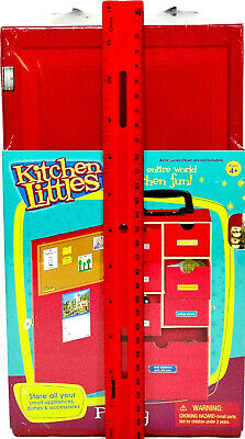 "*Kitchen Littles Pantry Red Carry Case For 11½"" Dolls 4+ New Mint #K71118 SALE!"