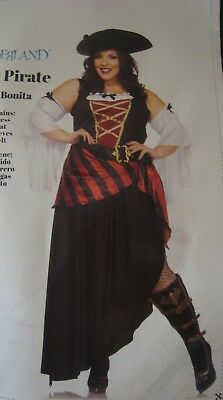 PRETTY PIRATE Plus Size 1X (18-20) Woman's Adult Wench Costume by Wonderland