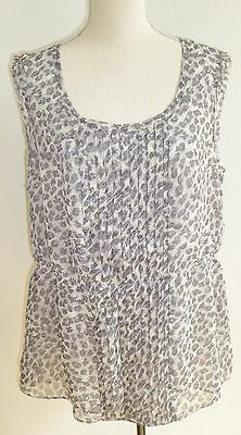 Banana Republic Size XL Gray Cheetah Print Tank Top