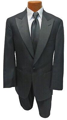 Halloween Costumes With Black (Men's Black Tuxedo Jacket with Satin Peak Lapels Halloween Bond Spy 007 Costume)