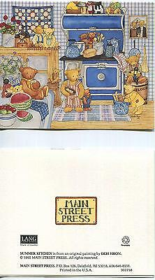 VINTAGE SHRIMP GARLIC NEW ORLEANS RECIPE 1 TEA  COFFEE POT WATERMELON BEARs CARD ()