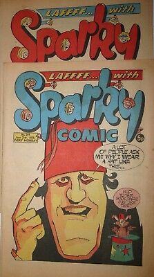 Sparky Comic Number 578  February 14th 1976 Number 544 June 21st 1975 Vintage