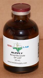 Tex Lab Supply Benzyl Benzoate NF-FCC/EP-USP 50 mL