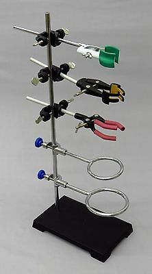 9 Piece Lab Set - 8x5 Stand, 2 Support Rings, 3 Extension Clamps & 3 Holders on Rummage