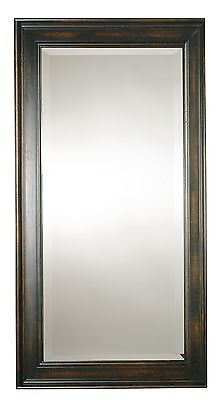 Oversize Solid Wood Mirror Black Full Length | Wall Floor Le
