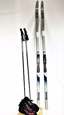 Classic Cross Country Ski - Cross Country ski package, CLASSIC, WhiteWoods Wax-free skis, FREE FITTING+poles