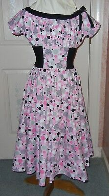 OOAK NEW Vintage Size 12 Cotton Dress-Perfect for Dapper Day-Disney Print Fabric