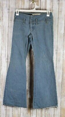 Gap Flare Jeans - Gap Jeans No Front Or Rear Pockets Medium Wash Denim Jeans Flare Leg Sz 6