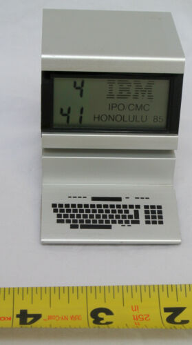 "IBM ""IPO/CMC Honolulu 1985"" Digital Clock Souvenir Vintage 1985"