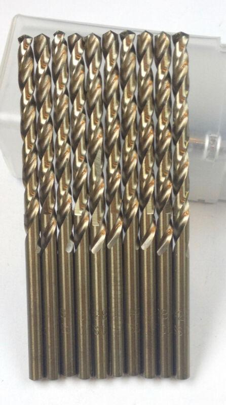 12 PCS Number #36 COBALT  JOBBER DRILL BIT, 135 DEG, Tap Drill for 6-32