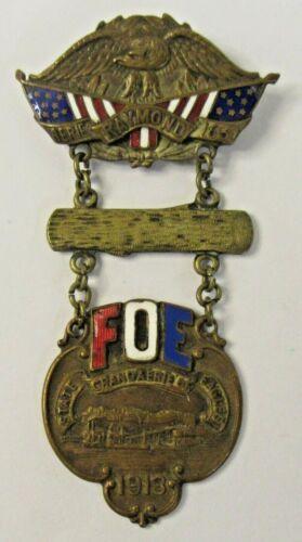 1913 EAGLES #1631 RAYMOND WASHINGTON enamel inlaid medal pinback badge