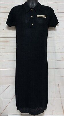 Astrid Andersen sheer mèche dress with collar 3 button Size Small Wool Blend