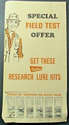 Heddon Fishing Lure Kit Brochure Vintage 1968 Advertisement Order Form