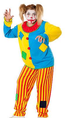 Damen Kostüm Horror Clown Killer Harlekin böser Clownkostüm Halloween