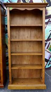 New Timber Display Bookcase 4 Shelves Solid Back Bookshelf Melbourne CBD Melbourne City Preview