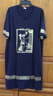 Olympic Gold Foil Greek Mythology Long Shirt Dress One Size Greece New](Mythology Dress)