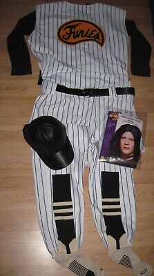1979 The Warriors Baseball Gang Furies Pinstriped Uniform/Cosplay/Whole