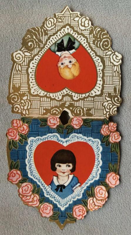 Antique/vintage Valentine's Heart Card, Used