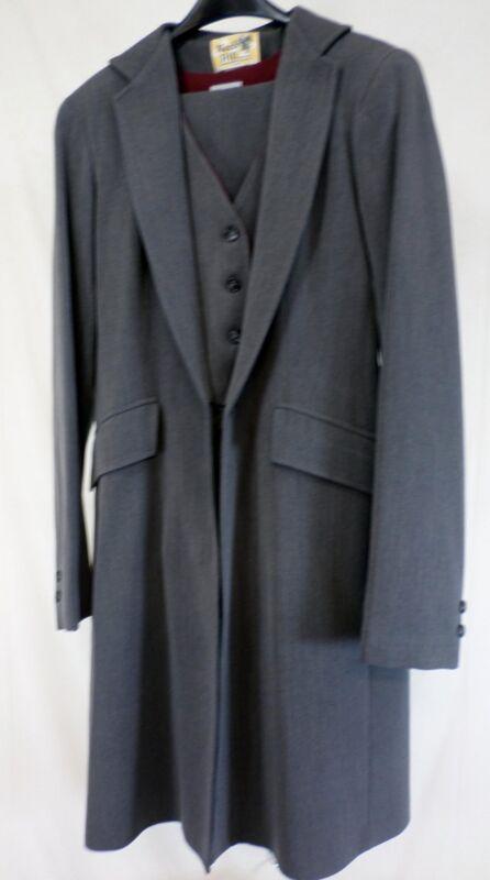 Reed Hill Saddleseat Ld 3p suit Grey Herringbone Poly / Rayon / Spandex 10 - USA