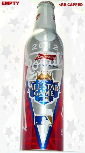 2012 MLB BASEBALL ALL STAR GAME KANSAS CITY ROYAL BUDWEISER BEER ALUMINUM BOTTLE
