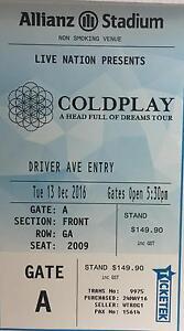 Coldplay concert - Sydney - 13 Dec - Allianz stadium Sydney City Inner Sydney Preview