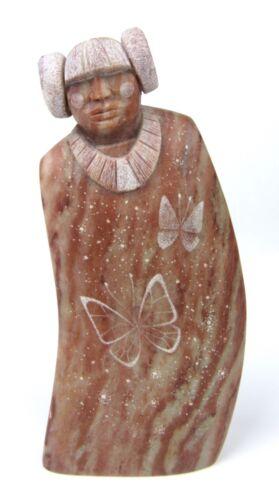 Signed Joe Oreland Carved Alabaster Native American Navajo Indian Sculpture