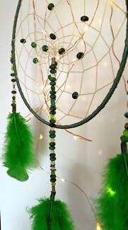 Greens & Blacks *Handmade* Chrysocolla Dreamcatcher