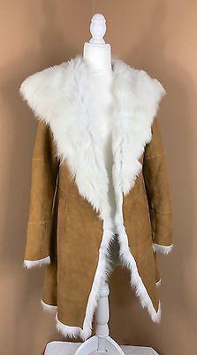 UGG Australia Toscana Shearling Coat Chestnut Small Twin Face Lamb Fur