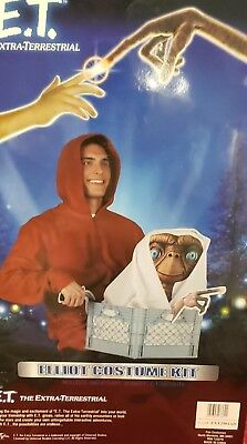 E.T. THE EXTRE-TERRESTRIAL ESCAPE HALLOWEEN COSTUME ALIEN BIKE BASKET HOODIE