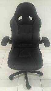 Computer Chair in Leather with Arm Rests and lift lower option