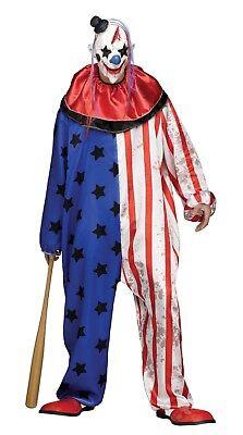 Fun World Böser Clown Maske Erwachsene Herren Halloween Kostüm Standard 132014 ()