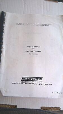 Emco Electro-metrics Emc-25 Instruction Manual For Interference Analyzer