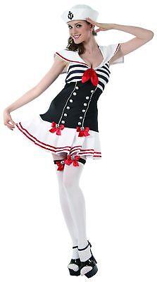 Hübsches Matrosen-Kostüm für Damen weiss-blau-rot Cod.204371