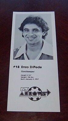 Enzo DiPede #18 Goalkeeper NY Arrows professional indoor soccer player 1979 -80 Indoor Soccer Goalie