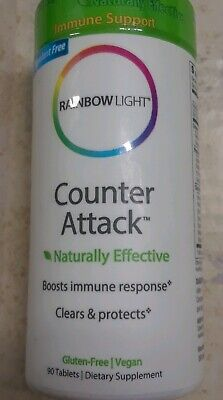 Rainbow Light Counter Attack 90 tablets Immune Booster natural -