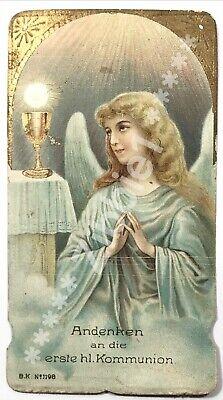 First Holy Communion, Vintage German Die Cut Holy Devotional Prayer - Communion Prayer Holy Card