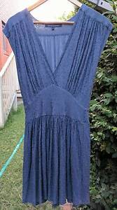 Blue/Grey 'French Connection' V-Neck dress - Size 8 Queanbeyan Queanbeyan Area Preview