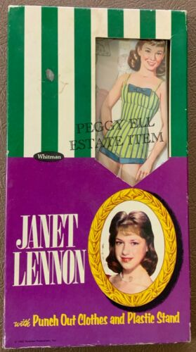 "1962 WHITMAN PUBLISHING & TELEKLEW PROD. ""JANET LENNON"" PAPER DOLL # 4613 SEALED"