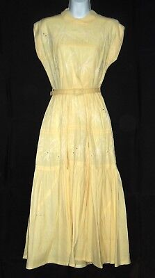 1950s 60's LOVELY EYELET DAY DRESS PERIOD CHARACTER DRESS WESTERN COSTUME CO