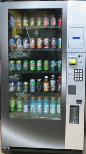 Royal Vendors Glass front Bottle/Can Vending Machine - With Credit Card Reader