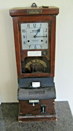 ANTIQUE NATIONAL TIME RECORDER CO. TIME CLOCK British Railways Midland Region