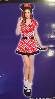 Totally Ghoul Halloween Costume Pretty Mouse Minnie Teen One Size Fits Most New  - Teen Mouse Costume
