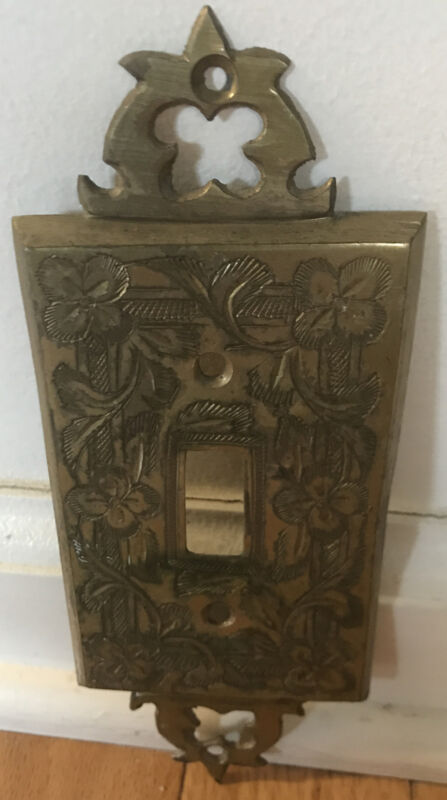 vintage brass switch plate cover